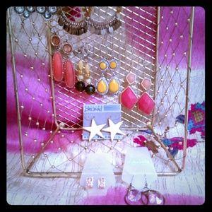 12 pairs of fun and fancy earrings